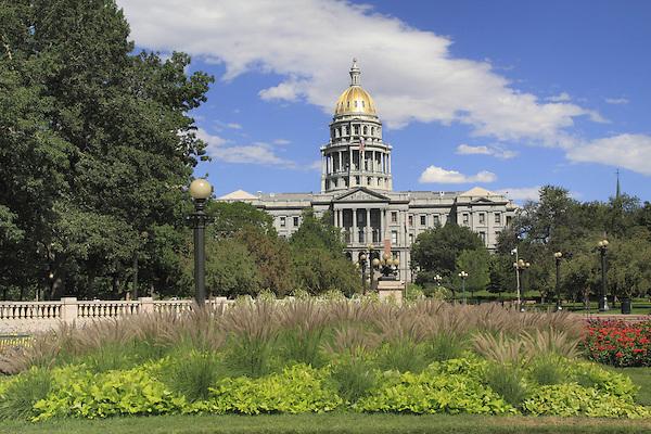 Colorado State Capitol and Civic Center Park, Denver Colorado, USA. .  John offers private photo tours in Denver, Boulder and throughout Colorado. Year-round Colorado photo tours.