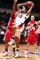 SAN ANTONIO, TX - JANUARY 31, 2009: The Lamar University Cardinals vs. The University of Texas at San Antonio Roadrunners Women's Basketball at the UTSA Convocation Center. (Photo by Jeff Huehn)