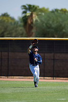San Diego Padres outfielder Mason House (58) prepares to catch a fly ball during an Instructional League game against the Texas Rangers on September 20, 2017 at Peoria Sports Complex in Peoria, Arizona. (Zachary Lucy/Four Seam Images)