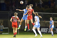 Boyds, MD - Saturday April 29, 2017: Amber Brooks, Havana Solaun during a regular season National Women's Soccer League (NWSL) match between the Washington Spirit and the Houston Dash at Maureen Hendricks Field, Maryland SoccerPlex. The Dash won 1-0.