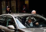 "Madrid,Spain - 16 10 2014- ""politics""- scandal black cards Caja Madrid- Rodrigo Rato, former president of Bankia and <br /> International Monetary Fund arrives to testify at the national audience by reference to the scandal of the black cards(foto Guillermo Martinez/Bouza press)"