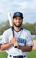 Lake County Captains infielder Jose Fermin (13) poses for a photo before a Midwest League game against the Beloit Snappers at Harry C. Pohlman Field on May 6, 2019 in Beloit, Wisconsin. (Zachary Lucy/Four Seam Images)