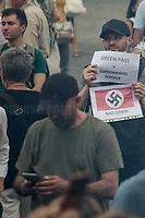 24.07.21 - No Green Pass Demo - Far-right, NoGreenPass, NoVax, Covid19 Deniers, Conspiracy Theorists
