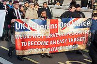 """26.11.2016 - """"UK Veterans - One Voice"""" Demonstration in Whitehall"""