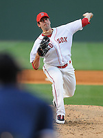May 30, 2009: LHP Mitch Herold (39) of  the Greenville Drive, Class A affiliate of the Boston Red Sox, in a game against the Charleston RiverDogs at Fluor Field at the West End in Greenville, S.C. Photo by: Tom Priddy/Four Seam Images