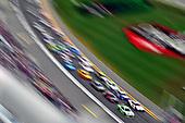 #3: Austin Dillon, Richard Childress Racing, Chevrolet Camaro American Ethanol and #11: Denny Hamlin, Joe Gibbs Racing, Toyota Camry FedEx Office