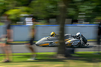 Peter Goodwin and Kendal Dunlop (F1-F2 Sidechairs). The 2019 Suzuki International Series Cemetery Circuit motorcycle raceday at Cooks Gardens in Wanganui, New Zealand on Thursday, 26 December 2019. Photo: Dave Lintott / lintottphoto.co.nz