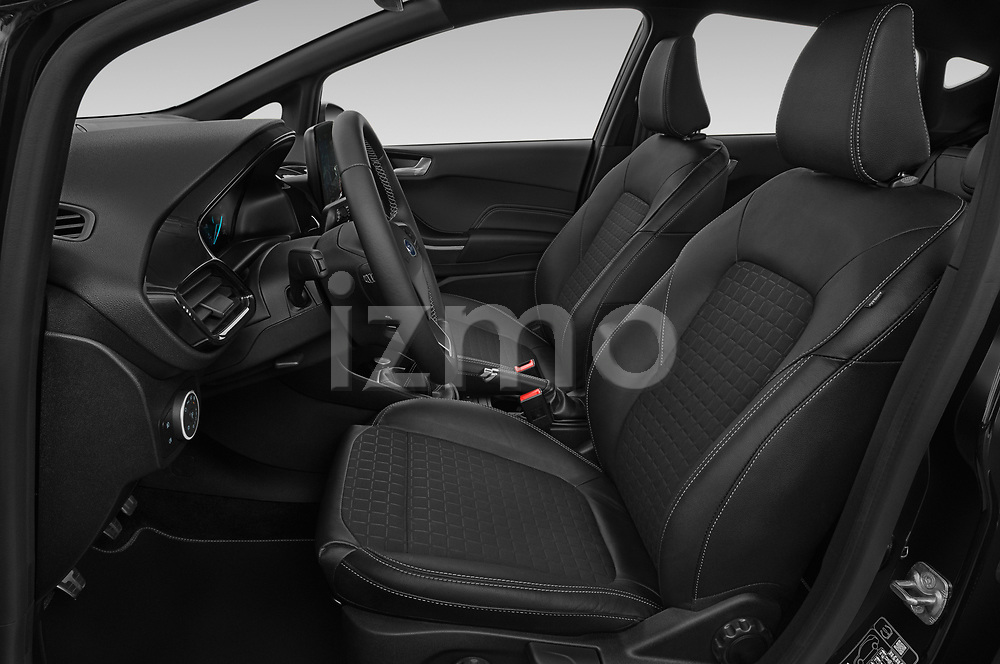 Front seat view of a 2019 Ford Fiesta  Active-3 5 Door Hatchback front seat car photos