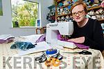 Costume designer Elizabeth Harkin making surgical scrubs at home in Dingle on Tuesday.