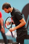 Grigor Dimitrov, Bulgaria, celebrates during Madrid Open Tennis 2017 match. May 11, 2017.(ALTERPHOTOS/Acero)