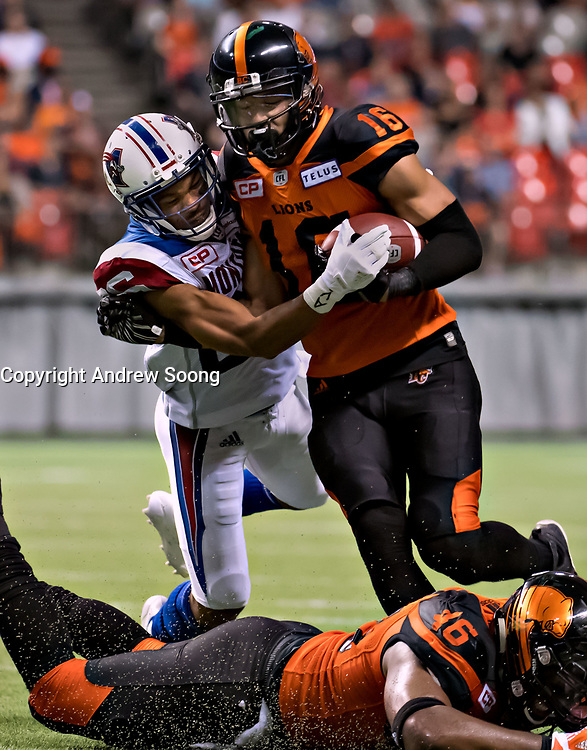Montreal Alouettes VS BC Lions in Vancouver, september 9, 2017<br /> <br /> PHOTO :  Andrew Soong - Agence Quebec Presse