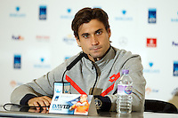 David Ferrer is interviewed during a media day at the Barclays ATP World Tour Finals at The O2 centre, North Greenwich, London.