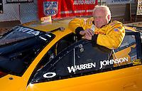 Apr 7, 2006; Las Vegas, NV, USA; NHRA Pro Stock driver Warren Johnson waits to qualify his GM Performance Parts Pontiac GTO at the Summitracing.com Nationals at Las Vegas Motor Speedway in Las Vegas, NV. Mandatory Credit: Mark J. Rebilas