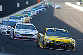 Monster Energy NASCAR Cup Series<br /> Brickyard 400<br /> Indianapolis Motor Speedway, Indianapolis, IN USA<br /> Sunday 23 July 2017<br /> Daniel Suarez, Joe Gibbs Racing, STANLEY Toyota Camry and Trevor Bayne, Roush Fenway Racing, AdvoCare Ford Fusion<br /> World Copyright: Russell LaBounty<br /> LAT Images