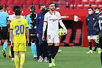 Sevilla FC's Youssef En-Nesyri celebrates hat trick during La Liga match. January 23,2021. (ALTERPHOTOS/Jose Luis Contreras)