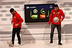 Isco and James participates and receives new Audi during the presentation of Real Madrid's new cars made by Audi in Madrid. December 01, 2014. (ALTERPHOTOS/Caro Marin)