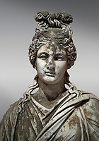 Roman statue of a woman. Marble. Perge. 2nd century AD. Inv no 2015/186. Antalya Archaeology Museum; Turkey.