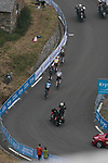The lead group of favourites climb Luz-Ardiden during Stage 18 of the 2021 Tour de France, running 129.7km from Pau to Luz-Ardiden, France. 15th July 2021.  <br /> Picture: Colin Flockton   Cyclefile<br /> <br /> All photos usage must carry mandatory copyright credit (© Cyclefile   Colin Flockton)