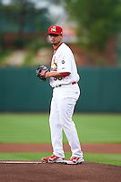 Springfield Cardinals pitcher Arturo Reyes (36) delivers a pitch during a game against the Frisco RoughRiders  on June 3, 2015 at Hammons Field in Springfield, Missouri.  Springfield defeated Frisco 7-2.  (Mike Janes/Four Seam Images)
