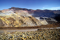 Santa Rita Mine, Chine Mine Company, Phelps-Dodge Corp. Open pit copper mine, 1.75 miles across and 1,000 feet deep, in production since 1800. One of the largest operations of its type in the United States. Silver City New Mexico USA.