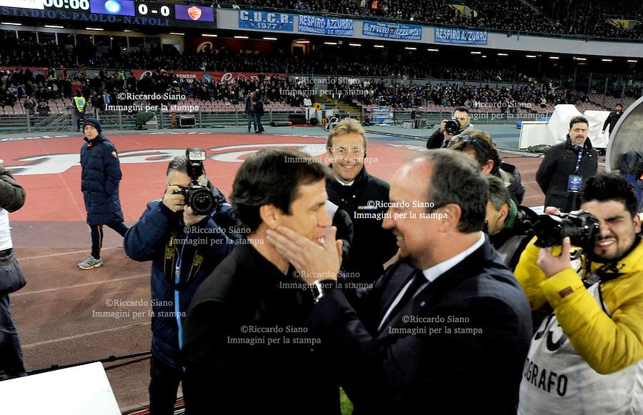 - NAPOLI 9 MAR  -  Stadio San Paolo    Napoli - Roma gli allenatori Garcia e Benitez