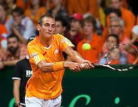 20-9-09, Netherlands,  Maastricht, Tennis, Daviscup Netherlands-France, Thiemo de Bakker