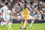 Vinicius de Oliveira Franco (l) of APOEL FC battles for the ball with Toni Kroos of Real Madrid during the UEFA Champions League 2017-18 match between Real Madrid and APOEL FC at Estadio Santiago Bernabeu on 13 September 2017 in Madrid, Spain. Photo by Diego Gonzalez / Power Sport Images