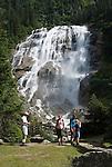 Austria, Tyrol, Stubai Valley, natural monument Grawa waterfall