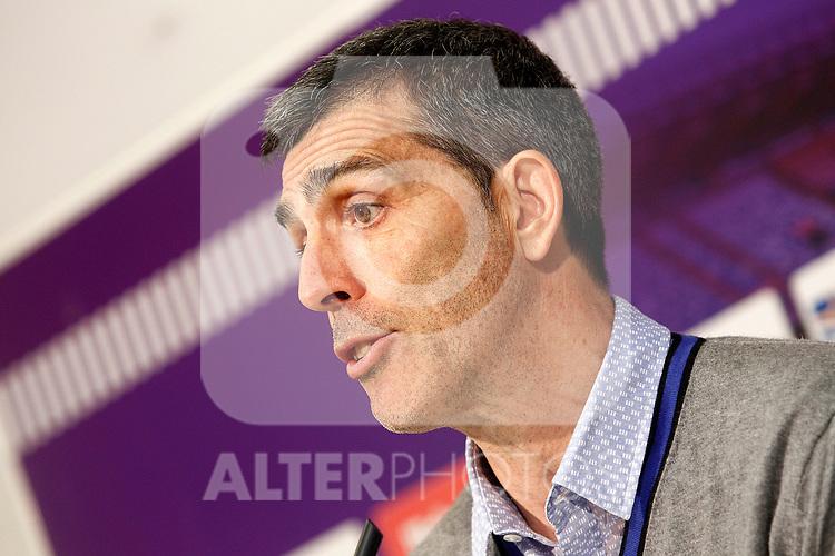 Levante UD's coach Juan Ramon Lopez Muniz in press conference after La Liga Second Division match. March 11,2017. (ALTERPHOTOS/Acero)