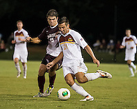 The Winthrop University Eagles played the College of Charleston Cougars at Eagles Field in Rock Hill, SC.  College of Charleston broke the 1-1 tie with a goal in the 88th minute to win 2-1.  Pietro Bottari (21), Brock King (15)