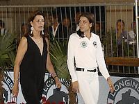 La Princesse Caroline de Hanovre et sa fille Charlotte Casiraghi durant le Longines proAm Cup Monaco dans le cadre du Jumping International de Monte Carlo 2016 le 24 juin 2016.