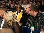 GLASGOW, SCOTLAND - MARCH 10: Frank Bruno watches the Paul Appleby of Scotland and Stephen Ormond of Ireland fight for the Vacant Celtic Super-Featherweight Championship bout at the Braehead Arena on March 10, 2012 in Glasgow, Scotland. (Photo by Rob Casey/Getty Images)