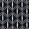 Èze, a waterjet mosaic shown in polished Nero Marquina and brushed Aluminum, is part of the Liliane™ Collection by Caroline Beaupere for New Ravenna.