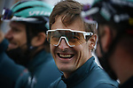 Marcus Burghardt (GER) Bora-Hansgrohe at sign on before the start of the 82nd edition of Gent-Wevelgem 2020 running 232km from Ypres to Wevelgem, Belgium. 11th October 2020.  <br /> Picture: Bora-Hansgrohe/Tim van Wichelen/CV/BettiniPhoto   Cyclefile<br /> <br /> All photos usage must carry mandatory copyright credit (© Cyclefile   Bora-Hansgrohe/Tim van Wichelen/CV/BettiniPhoto)