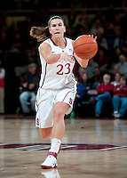 STANFORD, CA - February 24, 2011: Jeanette Pohlen of the Stanford Cardinal women's basketball team during the Stanford vs Oregon State game at Maples Pavilion.