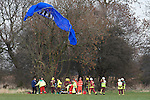 Pix: Shaun Flannery/sf-pictures.com..COPYRIGHT PICTURE>>SHAUN FLANNERY>01302-570814>>07778315553>>..16th March 2009.............Emergency services attended to the pilot of what is beleived to be a Paramotor after it crashed into a tree at Cusworth, Doncaster, South Yorkshire.