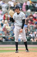 June 1st 2008:  Pitcher Billy Traber (18) of the Scranton Wilkes-Barre Yankees, Class-AAA affiliate of the New York Yankees, during a game at Frontier Field in Rochester, NY.  Photo By Mike Janes/Four Seam Images