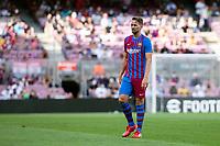 26th September 2021; Nou Camp, Barcelona, Spain: La Liga football, FC Barcelona versus Levante: Luuk de Jong Barcelona moves frward