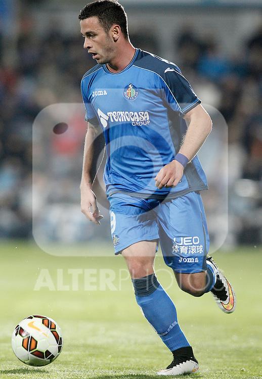 Getafe's Alvaro Vazquez during La Liga match.March 16,2015. (ALTERPHOTOS/Acero)