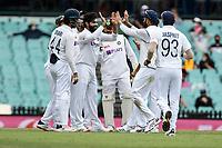 8th January 2021; Sydney Cricket Ground, Sydney, New South Wales, Australia; International Test Cricket, Third Test Day Two, Australia versus India; India celebrate the wicket of Marnus Labuschagne of Australia