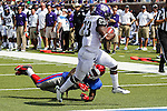 TCU Horned Frogs running back B.J. Catalon (23) in action during the game between the TCU Horned Frogs and the SMU Mustangs at the Gerald J. Ford Stadium in Fort Worth, Texas.  TCU leads SMU 28 to 0 at half.