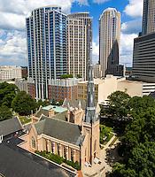 Photography of the First Presbyterian Church Uptown Charlotte, North Carolina.<br /> First Presbyterian Church is a historic Presbyterian church located at 200 W. Trade Street .<br /> <br /> Charlotte Photographer -PatrickSchneiderPhoto.com