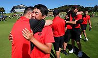 Canterbury celebrate. 2020 Interprovincial Golf Championships, Whitford Gold Club, Auckland, New Zealand, Saturday 28 November 2020. Photo: Simon Watts/www.bwmedia.co.nz