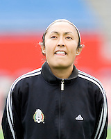 Mexico's Fatima Leyva during the team presentation. USA women's national team defeated Mexico 5-0 at Gillette Stadium in Foxborough MA on April 14, 2007