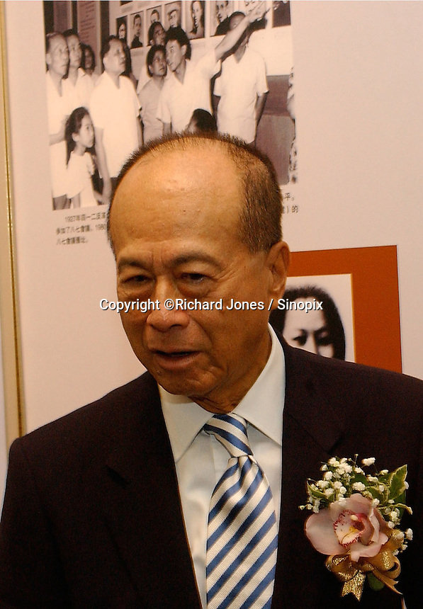 """Li Ka Shing at the opening ceremony of """"Giant of the Century"""" - an exhibition to commemorate the 100th Anniversary of the Birth of Deng Xiaoping in Hong Kong. The exhibition aims at introducing Deng's life to the people of Hong Kong.<br /> 26-AUG-04"""