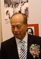 "Li Ka Shing at the opening ceremony of ""Giant of the Century"" - an exhibition to commemorate the 100th Anniversary of the Birth of Deng Xiaoping in Hong Kong. The exhibition aims at introducing Deng's life to the people of Hong Kong.<br /> 26-AUG-04"