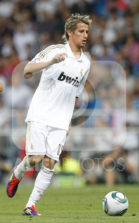 Real Madrid's Fabio Coentrao during Santiago Bernabeu Cup on august 24th 2011...Photo: Cesar Cebolla / ALFAQUI