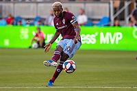 SAN JOSÉ CA - JULY 27: Kellyn Acosta #10 during a Major League Soccer (MLS) match between the San Jose Earthquakes and the Colorado Rapids on July 27, 2019 at Avaya Stadium in San José, California.
