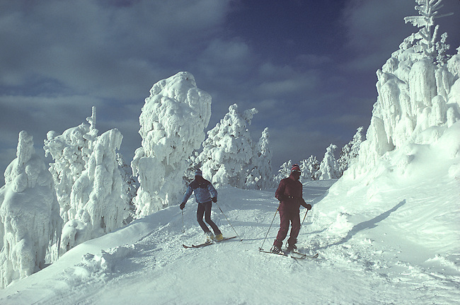 Skiers, Killington, Vermont