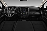 Stock photo of straight dashboard view of 2018 Ram Ram 3500 Tradesman Crew Cab Long 4 Door Pick Up